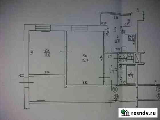 2-комнатная квартира, 42 м², 3/4 эт. Озерск