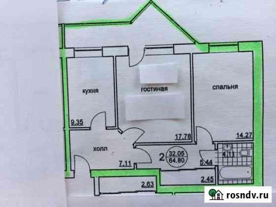 2-комнатная квартира, 60 м², 3/3 эт. Большой Исток