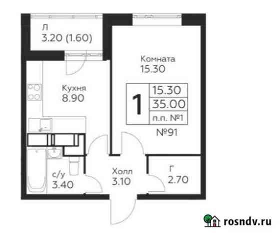 1-комнатная квартира, 35 м², 17/22 эт. Балашиха